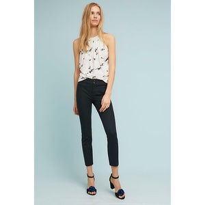 Anthropologie The Essential Slim Capris in Black